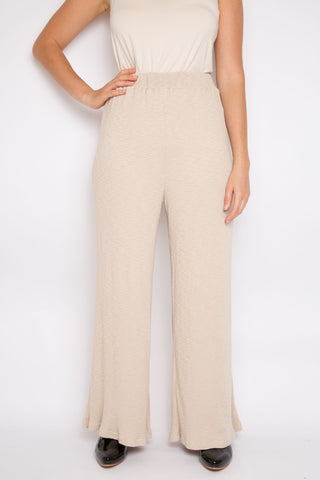 Wide Leg Pant in Vanilla Knit