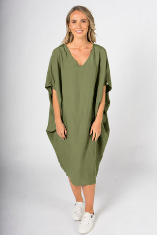 Woven Miracle Dress in Shamrock