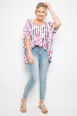 Nice Top in Sorbet Stripe