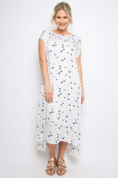 Charm Dress in Pastel Poppers