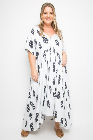 Peak Maxi Dress in Sea Bubble