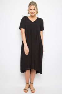 Wander Dress in Black Dot