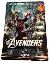 Avengers Official Poster Signed by 14
