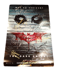 Dark Knight Official Poster Signed by 13