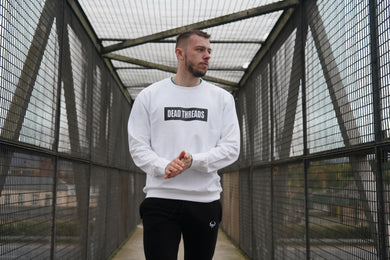 White BLOK Logo Jumper