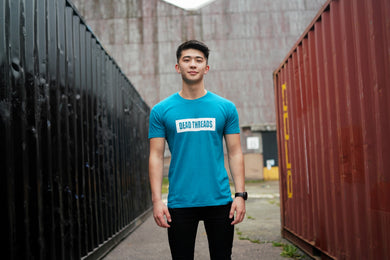 Duck Blue BLOK Logo T-shirt