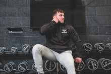 Load image into Gallery viewer, Black Classic logo hoodie