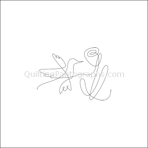 Janie's Hummingbird - quilting pantograph