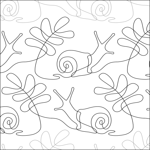 Sneaky Snail- quilting pantograph