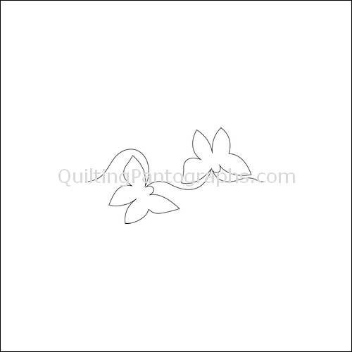 Butterfly Kisses - quilting pantograph
