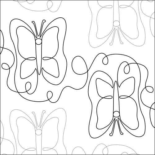 Butterfly Loops - quilting pantograph