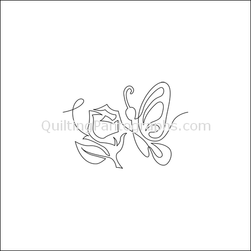 Butterfly Rose Border - quilting pantograph