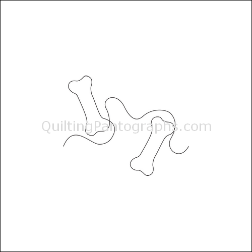 Dexter's Dog Bone - quilting pantograph