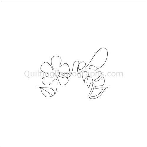 Honey Bee- quilting pantograph