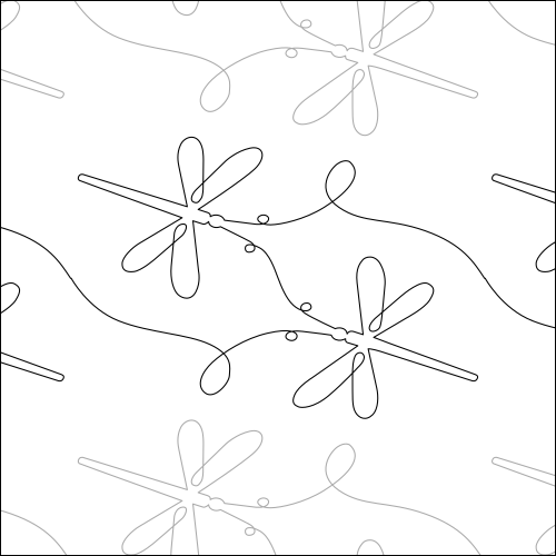 Jared's Dragonflies - quilting pantograph