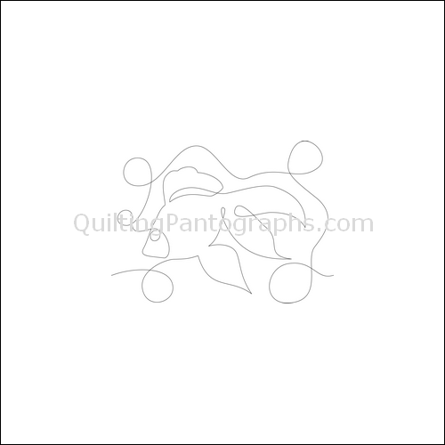 Lady Fish - quilting pantograph
