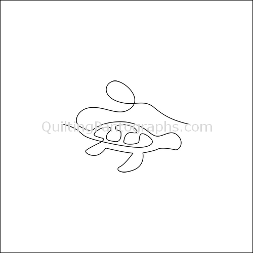 Sea Turtle - quilting pantograph
