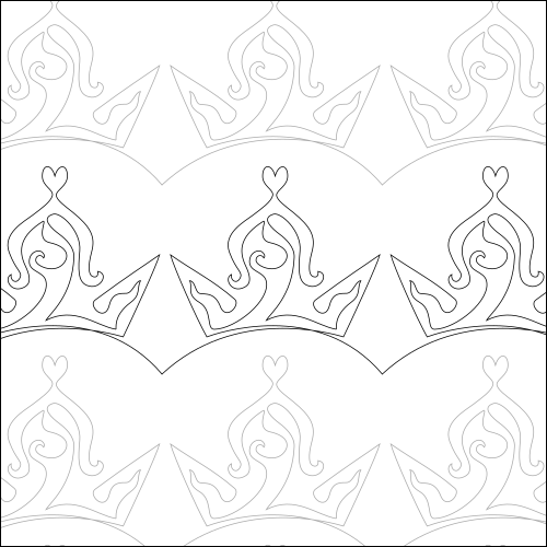 Ava's Crown - quilting pantograph