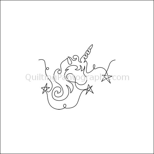 Ava's Unicorn - quilting pantograph