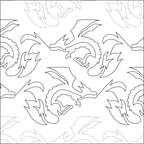 Emersyn's Dragon - quilting pantograph