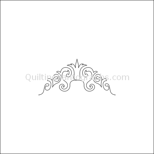 Queen's Crown - quilting pantograph