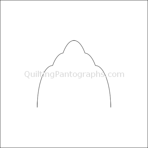 Clams High Nest - quilting pantograph
