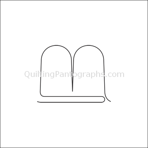 Clamshell Double - quilting pantograph