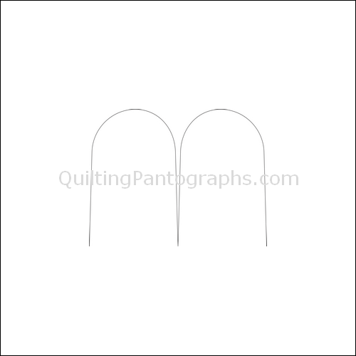 Clamshell Single - quilting pantograph