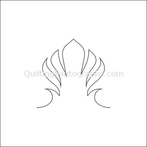 Fan High Nest - quilting pantograph