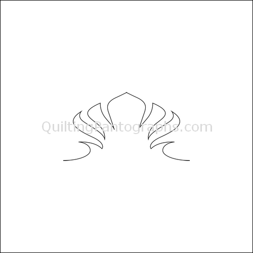 Fan Low Stack - quilting pantograph