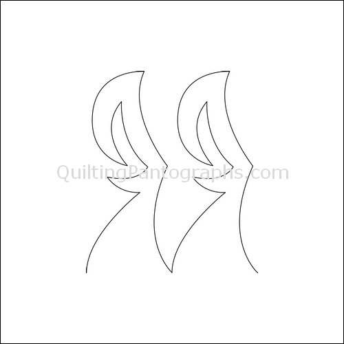 Shark Tail High- quilting pantograph