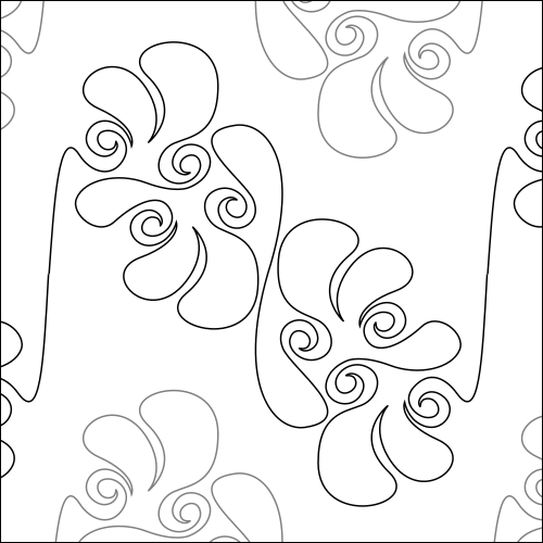 Fancy Feathers Flip - quilting pantograph
