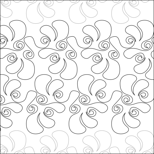 Fancy Feathers - quilting pantograph