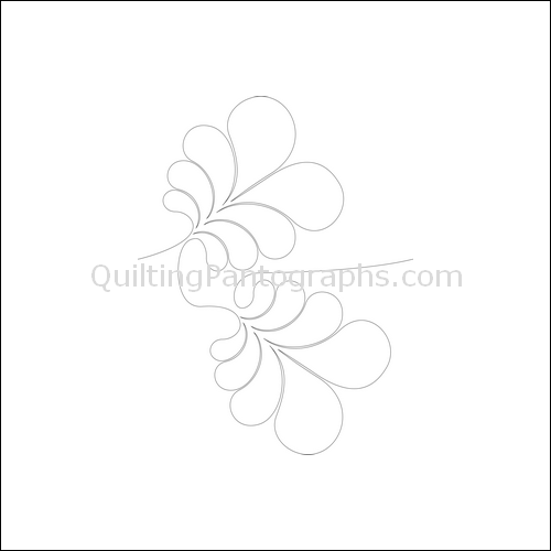 Feather Flip - quilting pantograph