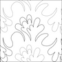 Feather Flower Flip - quilting pantograph