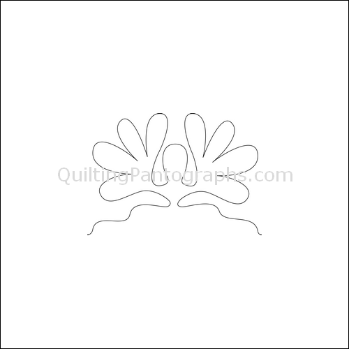 Feather Headdress - quilting pantograph