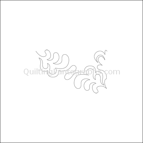 Feather Palm Flip - quilting pantograph