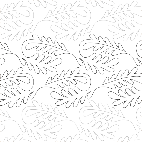 Feather Spin - quilting pantograph