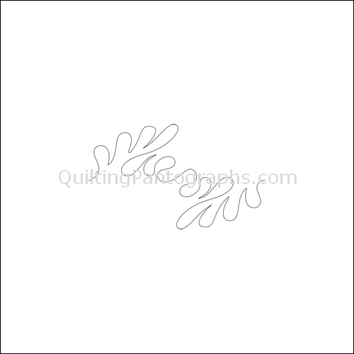 Floating Feathers Flip - quilting pantograph