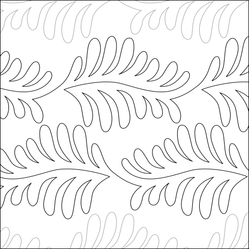 Palm Leaf Feather - quilting pantograph