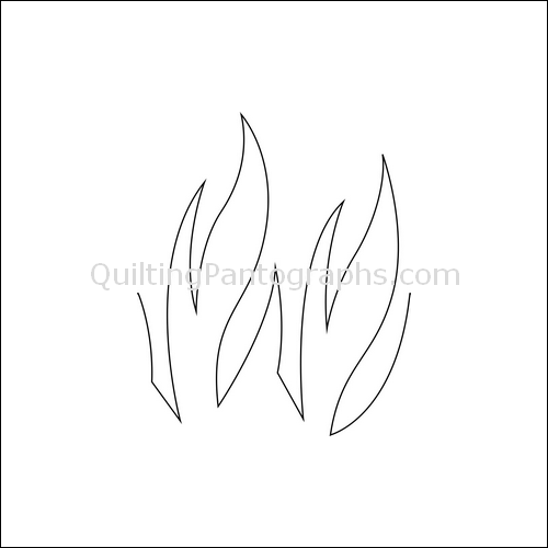Fire Flames High - quilting pantograph