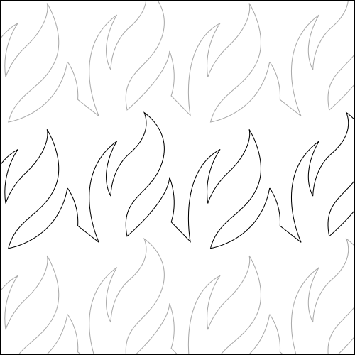 Fire Flames Low - quilting pantograph