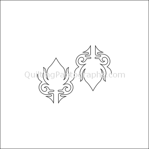 Torch Flame - quilting pantograph