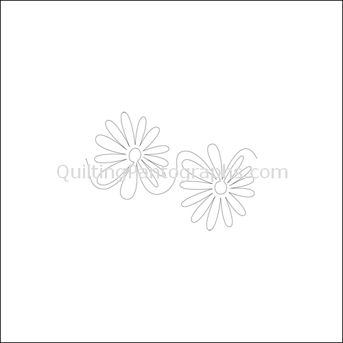 Daisy Bell - quilting pantograph