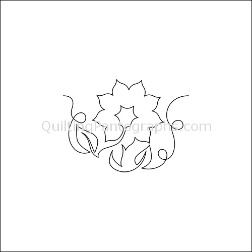 Kansas Sunflower - quilting pantograph