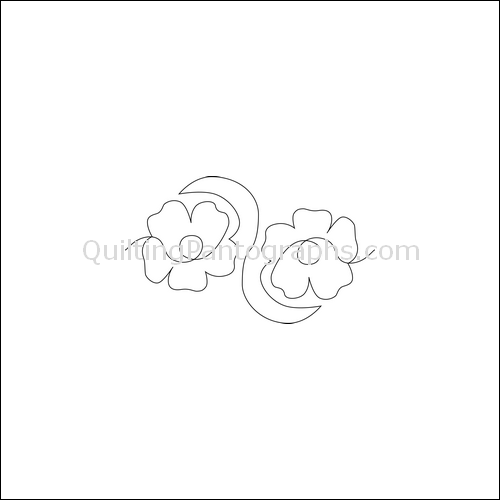 Poppy Mia - quilting pantograph