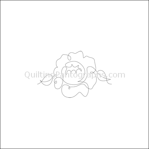 Spring Flower - quilting pantograph