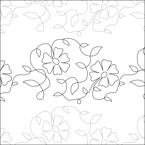 Summer Flowers - quilting pantograph