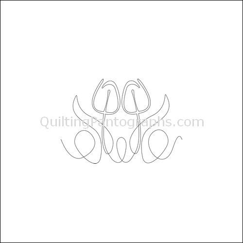 Tulip Twins - quilting pantograph