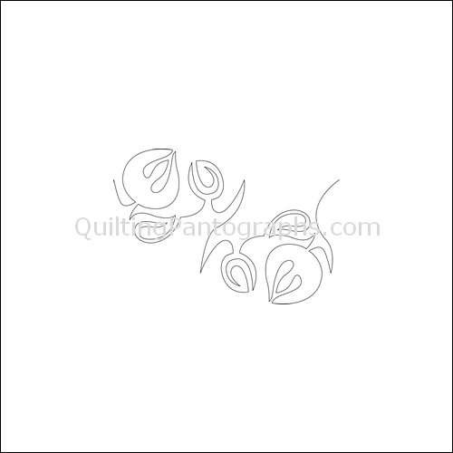 Twirling Tulip Flip - quilting pantograph